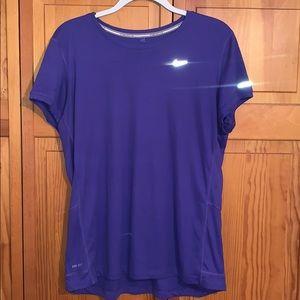 Purple Nike Miler short sleeve running top